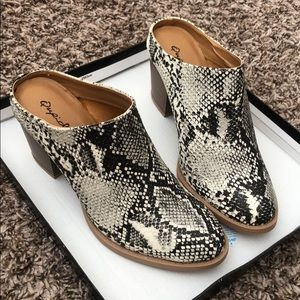 NEW Qupid snake print booties